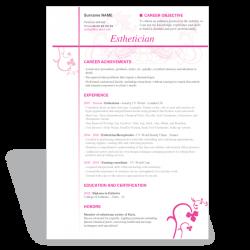 esthetician resume summary esthetician resume sample featuring