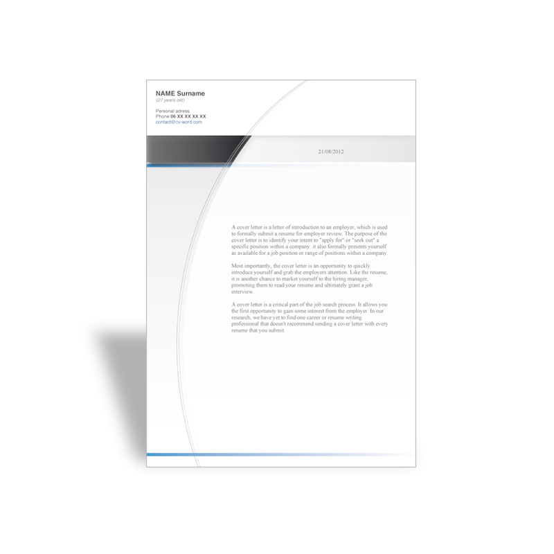 download word cover letter template news reporter