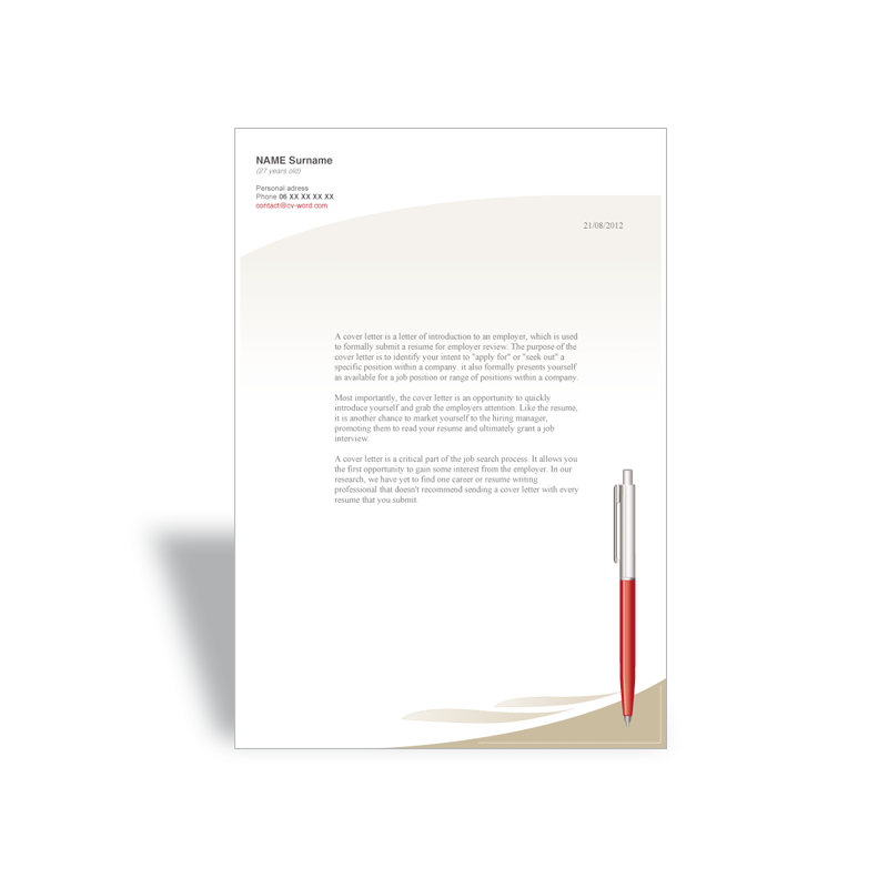 download word cover letter template manager