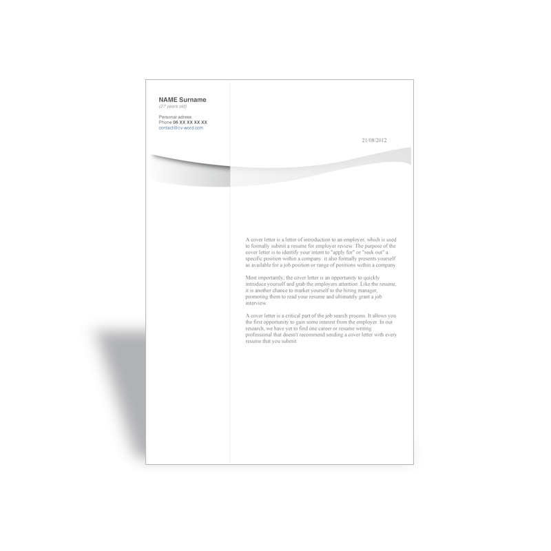download word cover template letter marketing