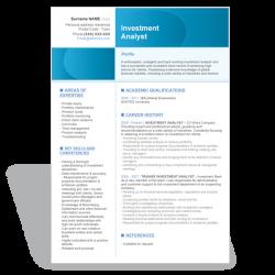 CV Résumé Investment Analyst