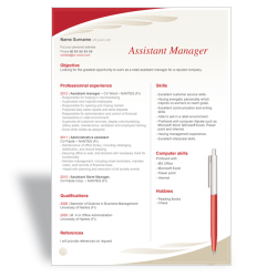 CV Assistant Manager