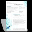Word CV Résumé template healthcare provider