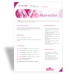 hair stylist resume resumesamples net hairdresser template download resume templates word resume cv templates - Free Hair Stylist Resume Templates