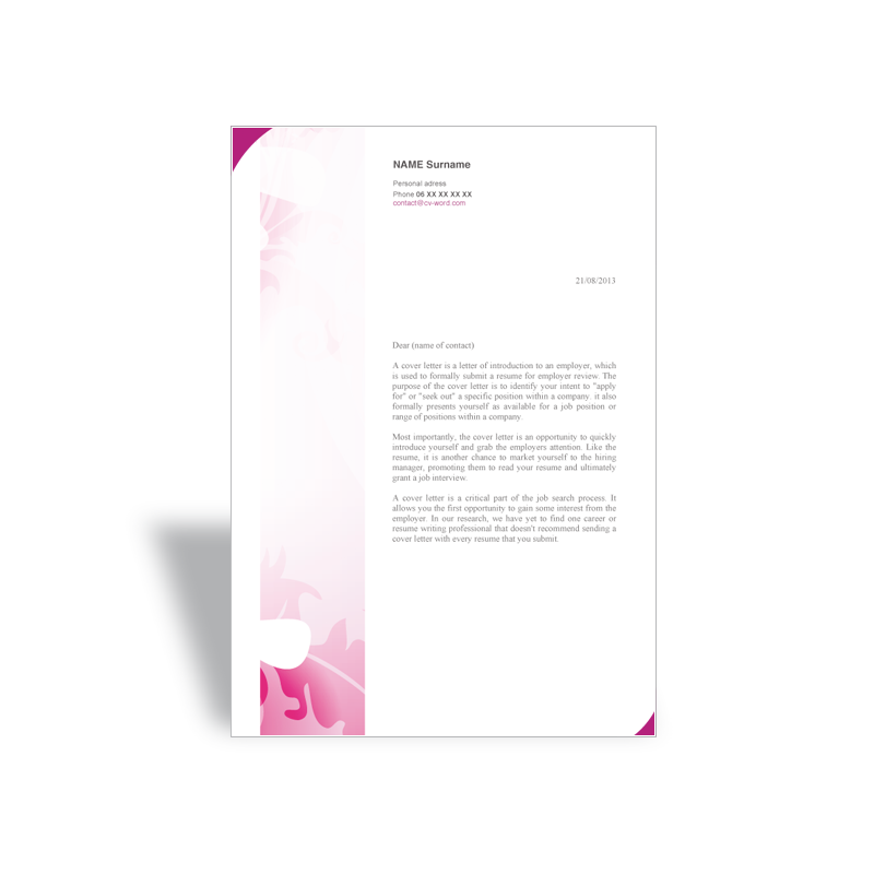Download word cover template letter hairstylist