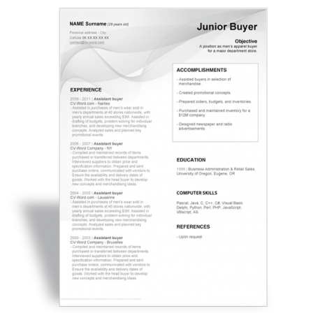 cv-junior-buyer Office Job Resume Format on for teacher, cover letter, computer science, for designers, sample fresher, civil engineer, 12th pass, high school, sample chronological, for fresh graduates, sample canadian,