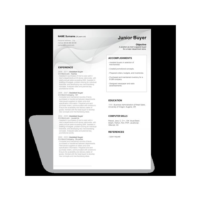 download word curriculum vitae cv resume templates junior
