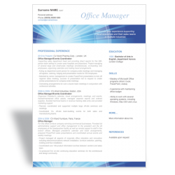 Template CV Office Manager