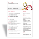 Word CV résumé template Design Draftsman