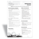Word resume template marketing director