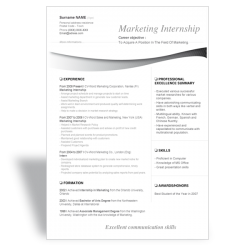 CV Marketing Internship