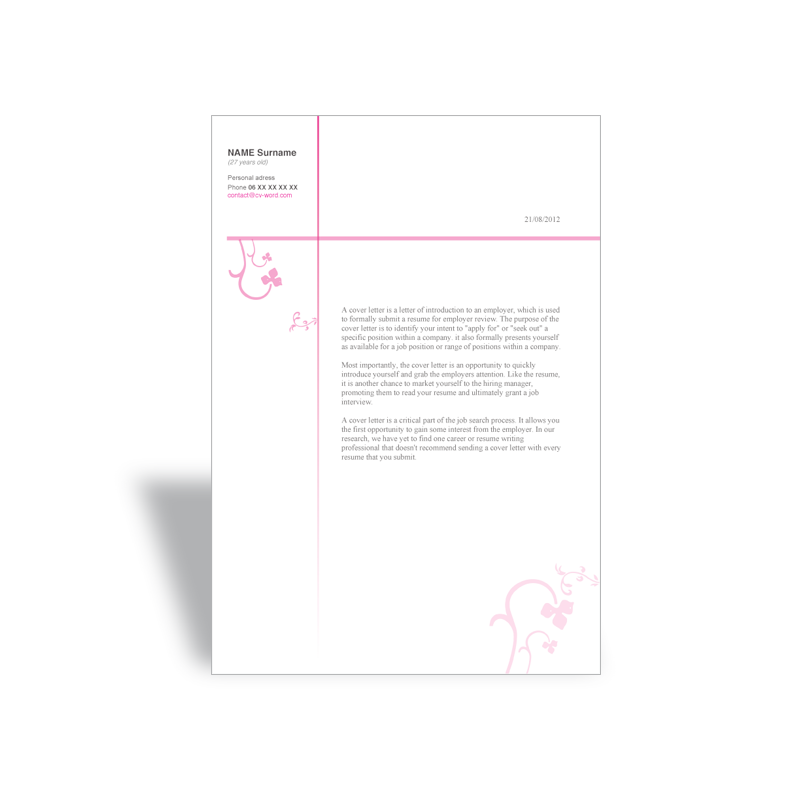 download word cover letter template esthetician